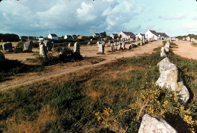 Carnac - Geometrical over siced stone alignments and dolmen