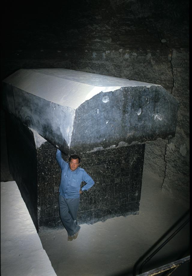 Serapheum underground tunnels with gigantic sarcophaguses