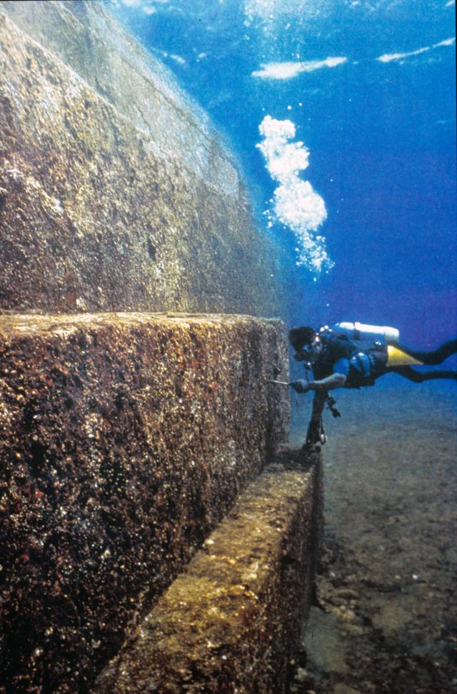 Underwater structures near Yonaguni