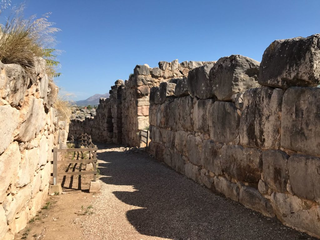 Tiryns - Megalitic walls in Mycenaean style