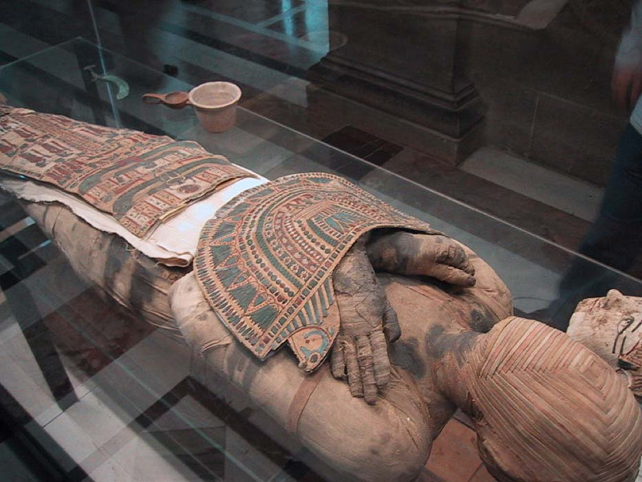 Square-Faced Mummy with name Pachery or Nenu of Egypt