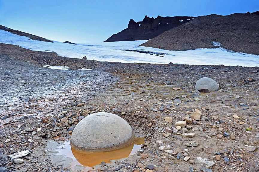 Stone balls world wide - Russia, Arctica